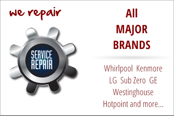Major brand appliance repair service in Hollister, CA