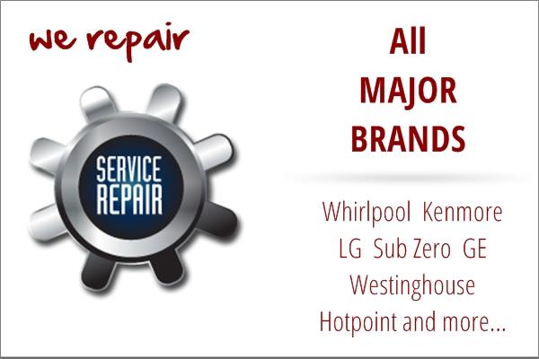 Major brand appliance repair service in Hollister, CA